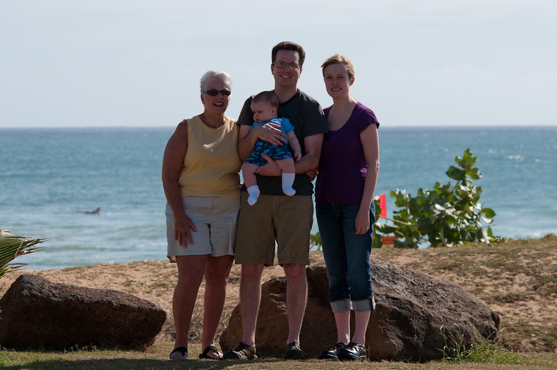 Beth, Brian, Karen and Jeremy at Kekaha Beach
