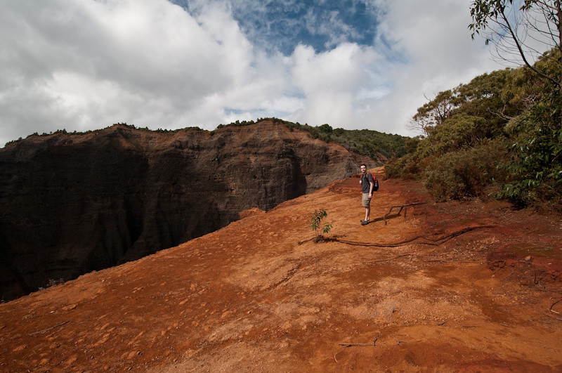 Hiking at Waimea Canyon
