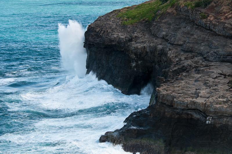 Waves at Kilauea Lighthouse