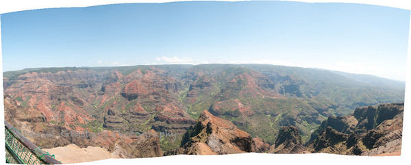 Panorama of Waimea Canyon on Kauai.