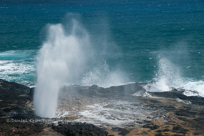 Spouting Horn blowhole in Poipu, Kauai.