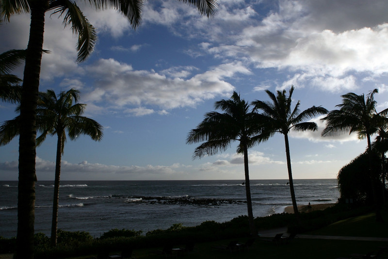 The view from our 'lanai.' No backpacks this time!