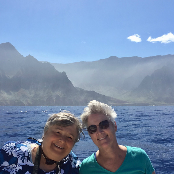 Just coming into the NaPali Coast area which can only be accessed by sea