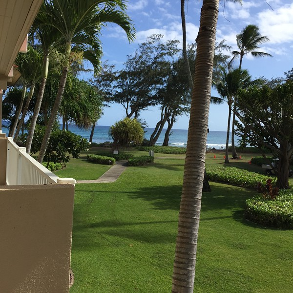View from our room at the Kauai Resorts - Beachboy