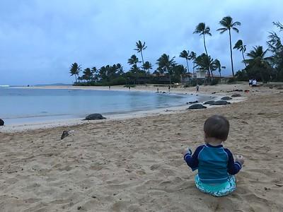 Asher on Poipu Beach