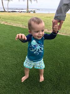 Asher at Poipu Beach