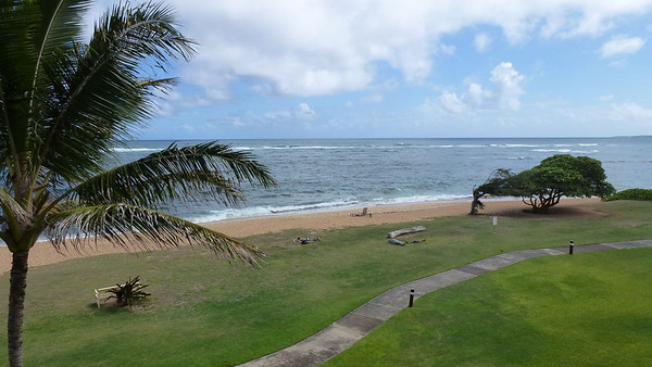 Our view from our lanai (balcony).
