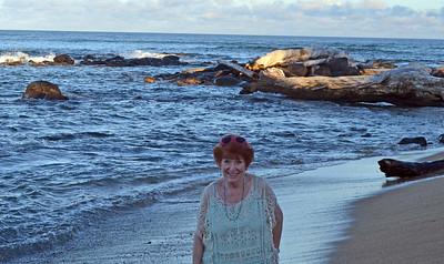 Judy White on Beach