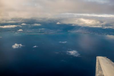 Preparing to land in Lihui, Kauai