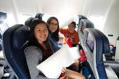 2016-06-04 Flying from LA to Honolulu, Oahu