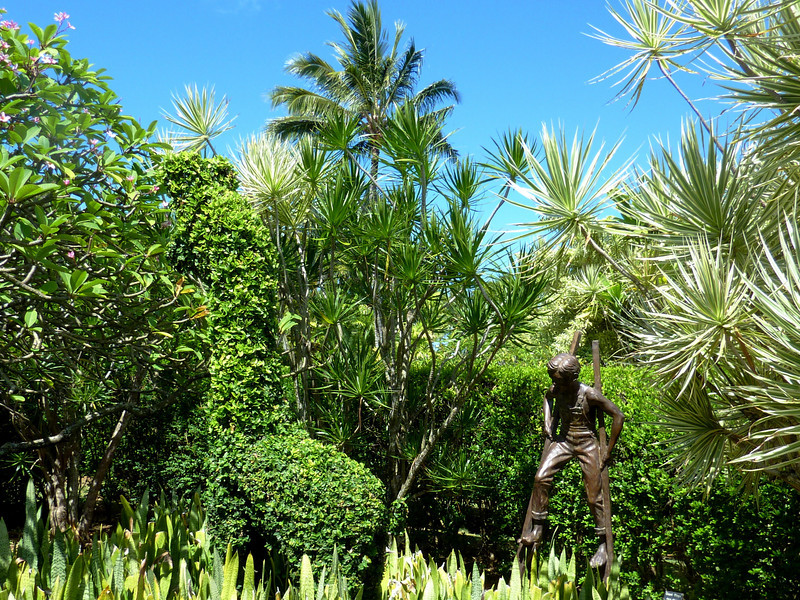 Boy on Stilts, Na Aina Kai Botanical Gardens