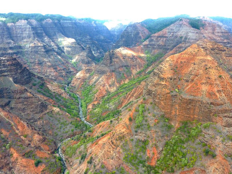 Waimea Canyon from Helicopter