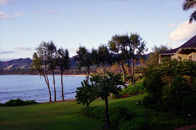 Wailua Bay to the remains of the Coco Palms Resort, 1995