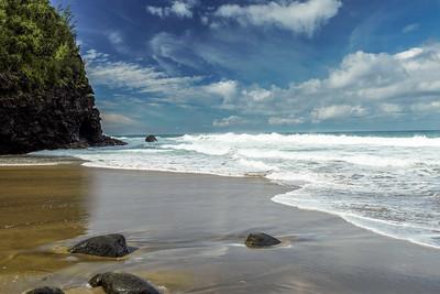 Hanakapiai Beach on the Kalalau (Na Pali Coast) trail