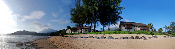 Hanalei Colony Resort  4 shot panorama