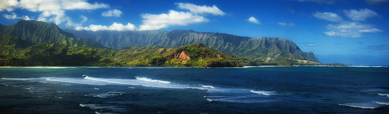 The northern coast of Kauai