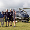 Helicopter tour of the island