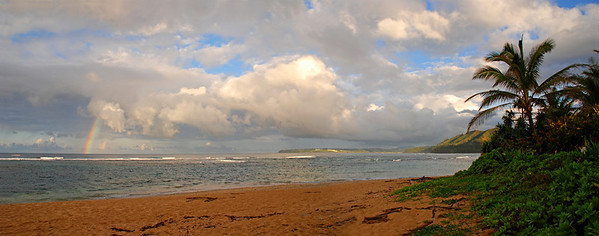 Kanaha Beach, Northside looking towards Hanalei   2 shot panorama