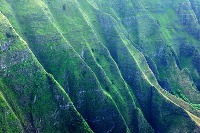 Fluted ridges along the Na Pali coast