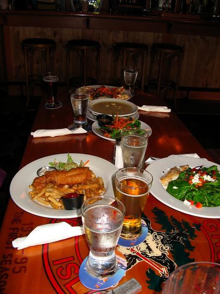 dinner at Harriot Bay Inn