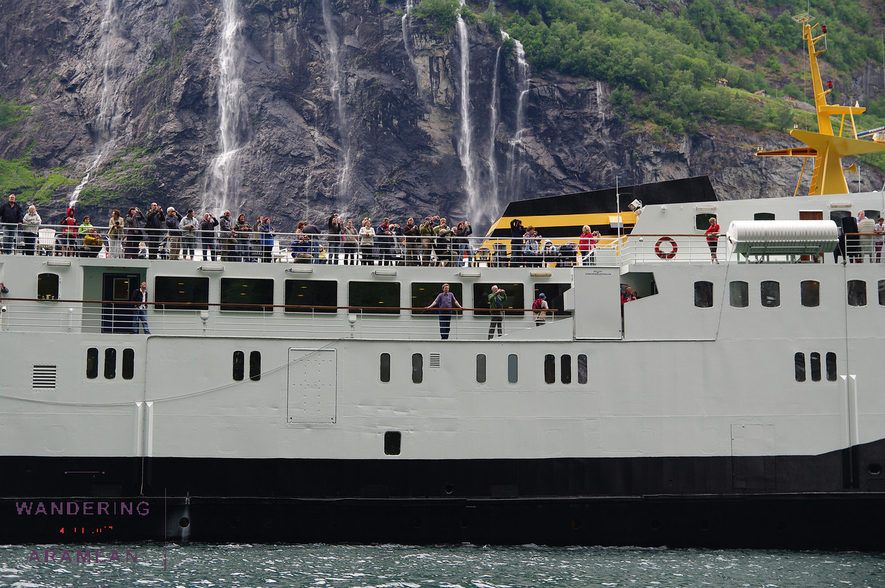 One of the many ferries we dodged as we navigated the fjords