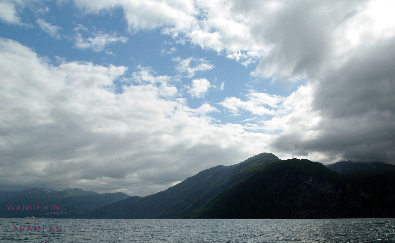 Back out on the water with blue skies peeking through the clouds