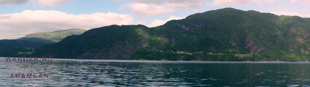 Out on the water of the fjord