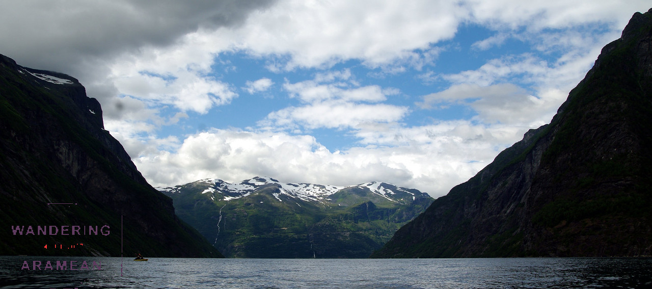 Looking back up out the end of Geraingerfjord