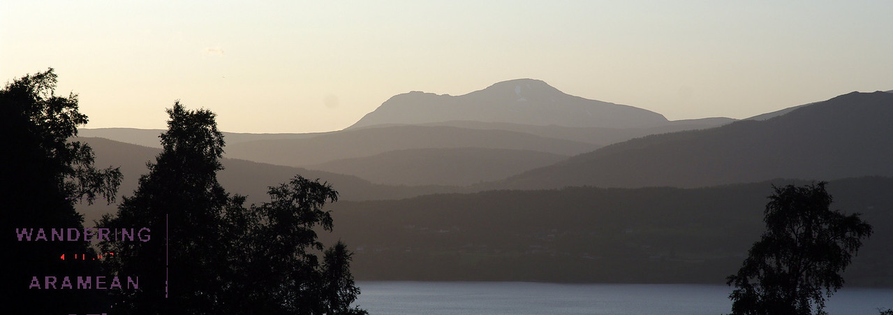 This is the closest we got to sunset in Norway - 24 hours of daylight was a bit strange