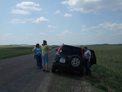 road from Karaganda to Jezkazgan