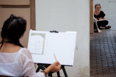 Art school students.