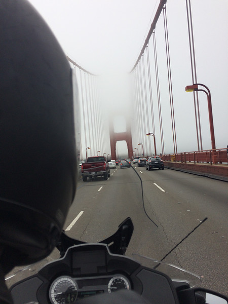 Back to the foggy Golden Gate