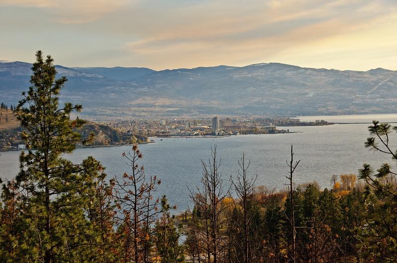 Kelowna seen from west side of lake