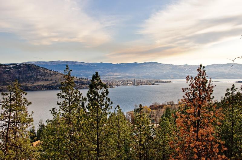 Kelowna seen from west side of lake