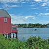Red Building over the Waterway