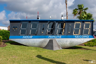 The original countdown clock at the Kennedy Space Center
