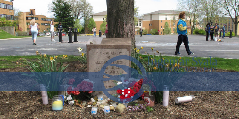 This memorial is by the Parking lot where the 4 dead and 9 injured were.