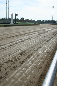 Workers spend a LOT of time, preparing the track for races.