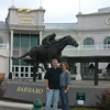 Nancy's awesome pic of us, in front of the race track.