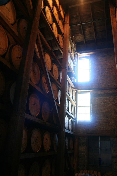 LOTS of bourbon, aging. They expect to outgrow this storage building in 4 years.