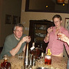 Bourbon tasting, chez Dode & Nancy. At this point we just might be tasting the very sugary honey-fortified (?) bourbon, and trying to figure out what the ??? the distiller was thinking. (pic from Nancy)