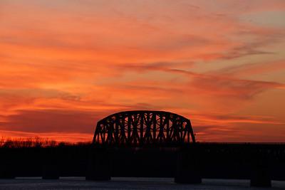 Railroad trestle over Ohio River