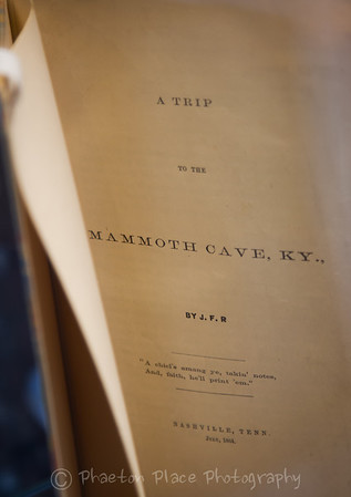 A Trip to the Mammoth Cave, KY