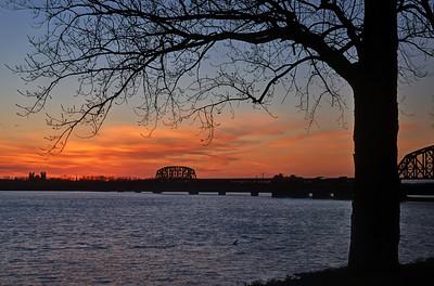 Ohio River at sunset