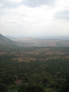 Looking into the Rift Valley.