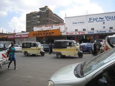 Tuk-tuks in Nakuru township.