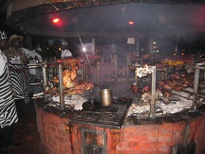 """The kitchen at """"Carnivore"""" Nairobi."""