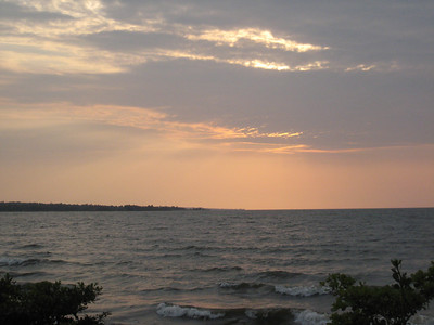 Sunset over Lake Victoria, Tanzania.  We camped at a town called Musoma.