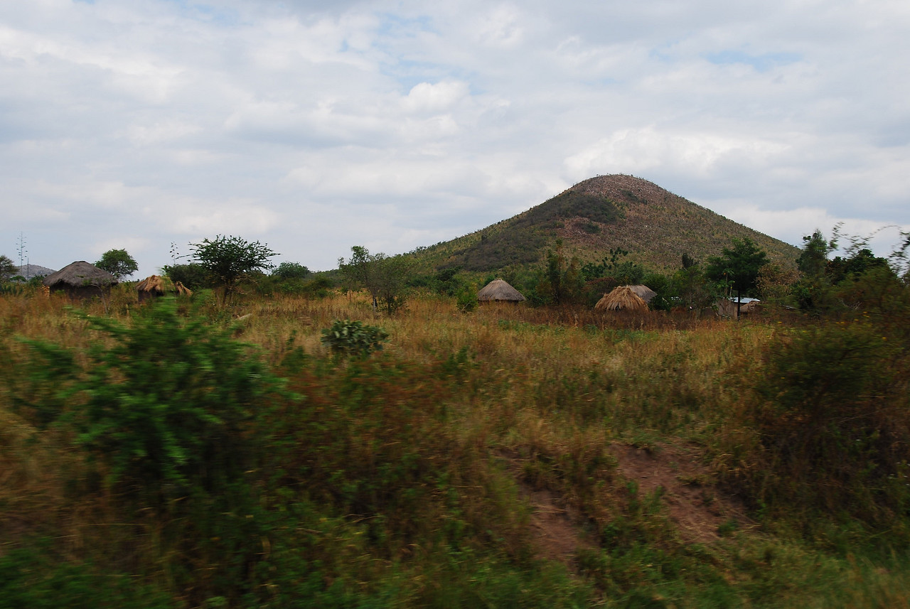 Traditional village on the road from the border to the town of Musoma.