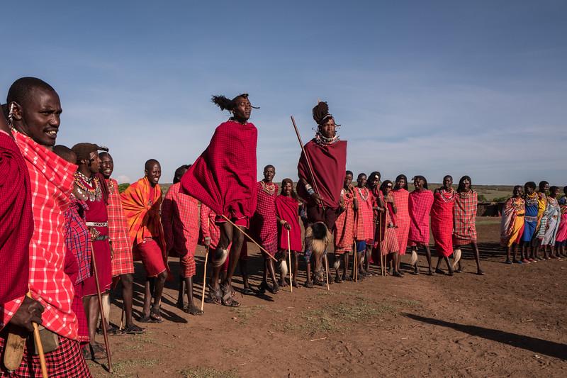 Masai Dance - the jump - Masai Mara, Kenya